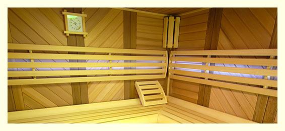 Pohled do interiéru luxusní sauny od SaunaSystem.CZ