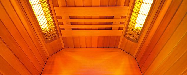 infrazářiče ISV v infrasauně SaunaSystem