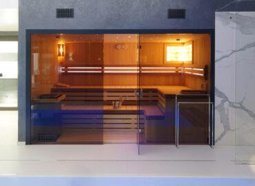 Maximální komfort v sauně Modus s hvězdným nebem nad hlavou