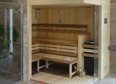 Nejlepší místo pro relaxaci: sauna Modus v plné výbavě a se skleněným rohem