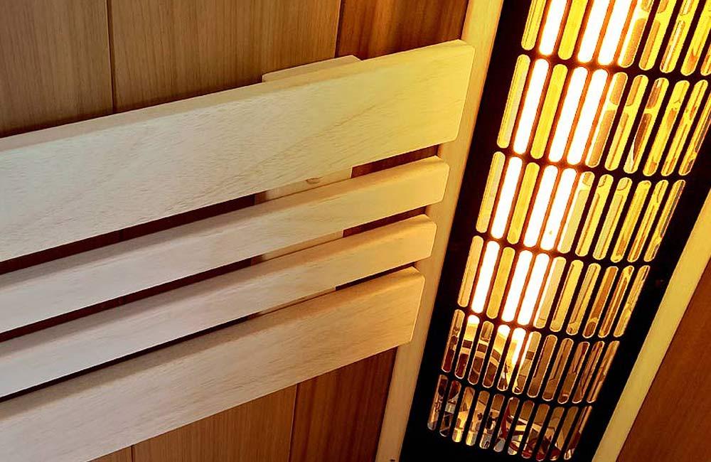 Detail infrazářiče Vitae od Saunasystem