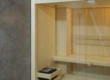 Vestavěná finská sauna Mini – malá, ale krásná