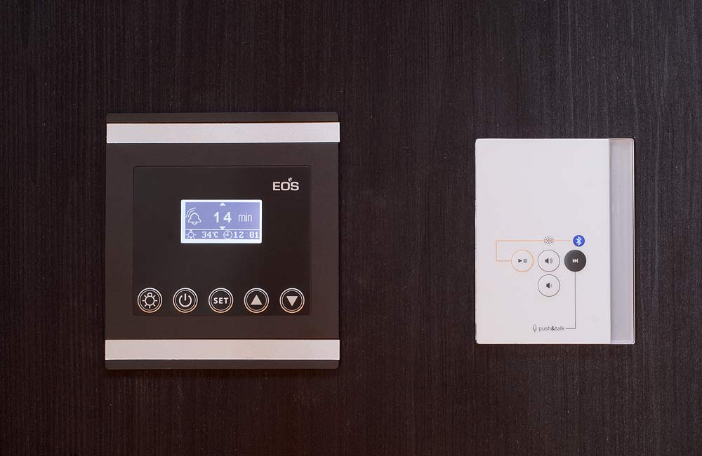 Regulace EOS Infratec Premium v infrasauně Sunshine/Sunset