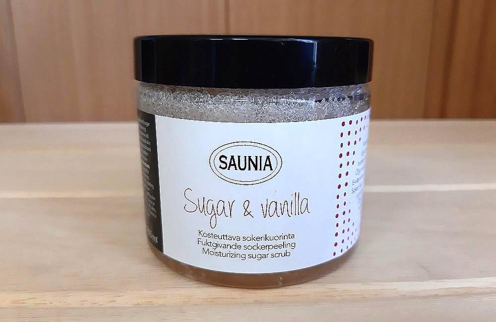 Peeling ze směsi cukru a vanilky