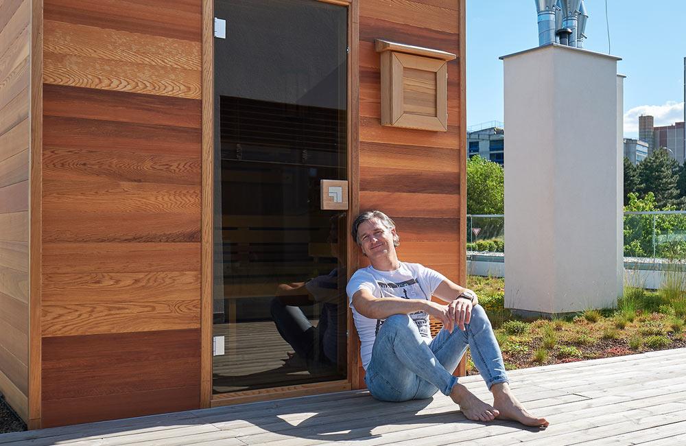 Lumír Olšovský si splnil sen a má vlastní saunu