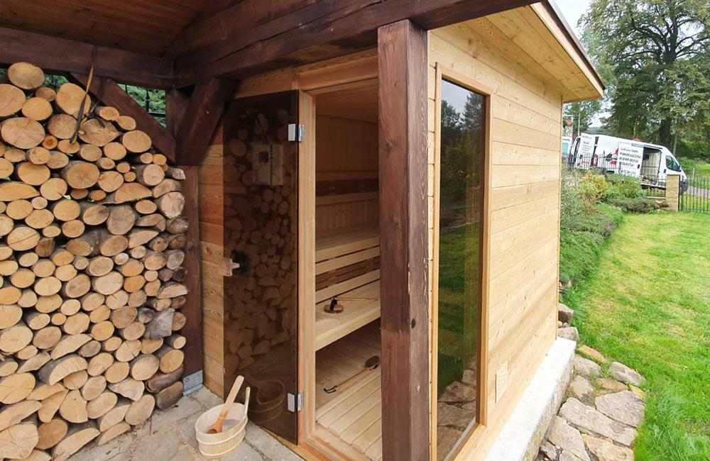 Sauna s výhledem do zahrady vás bude bavit