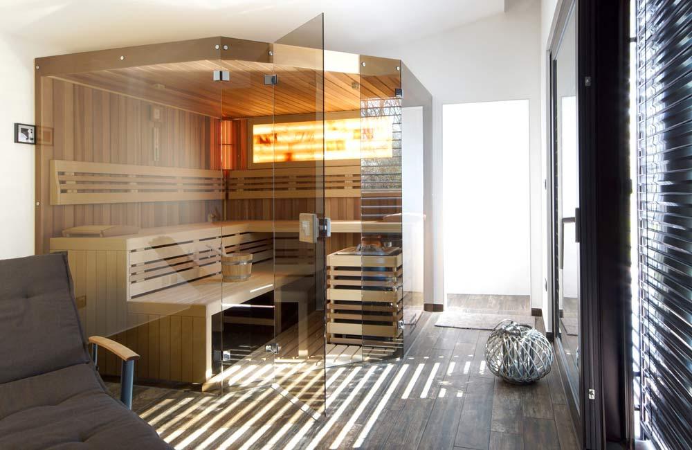 Sauna se solnými panely